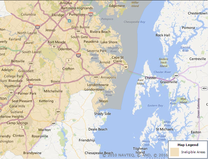 Map Of Anne Arundel County Md Anne Arundel County Maryland USDA Eligibility